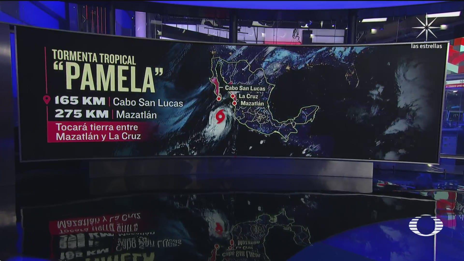 pamela se debilita a tormenta tropical