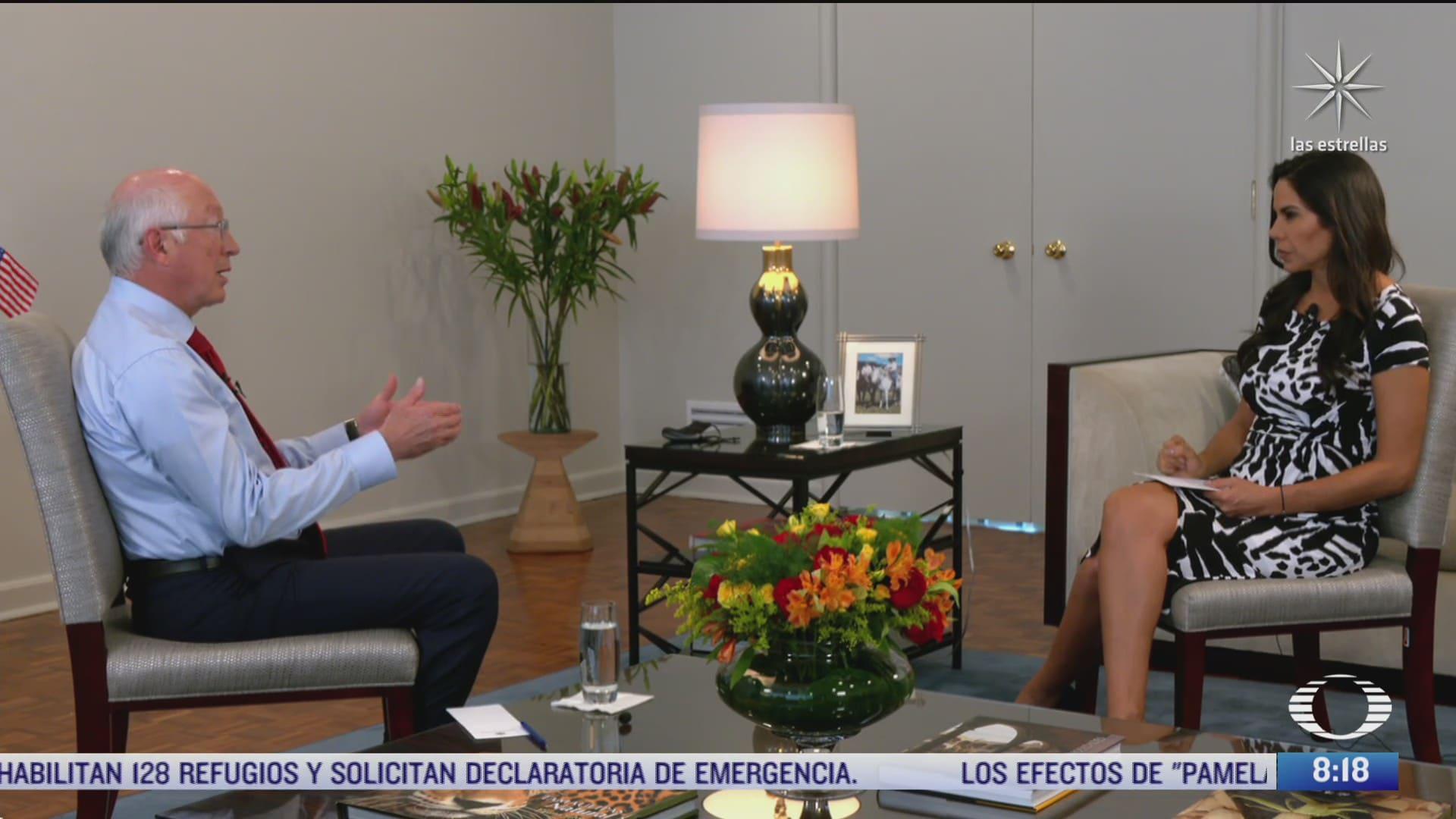 paola rojas entrevista a ken salazar embajador de estados unidos en mexico