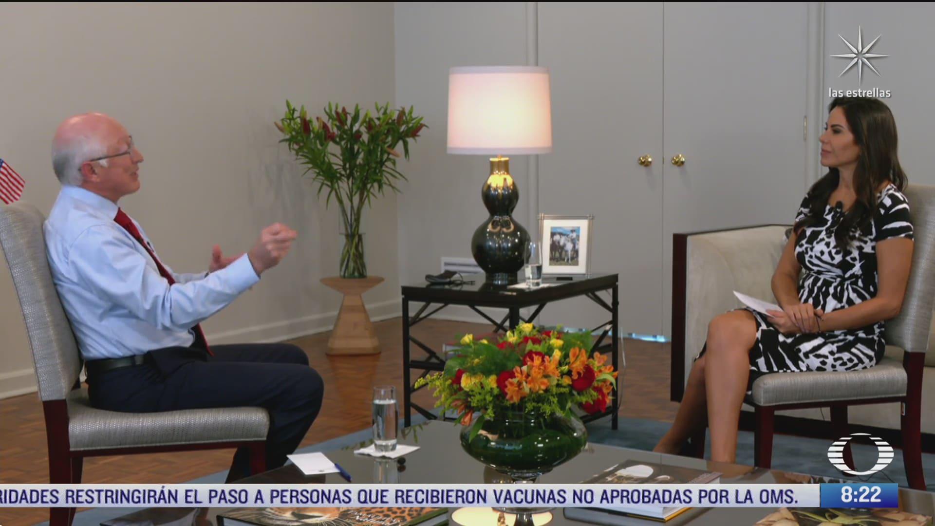 paola rojas entrevista al embajador de eeuu en mexico ken salazar parte