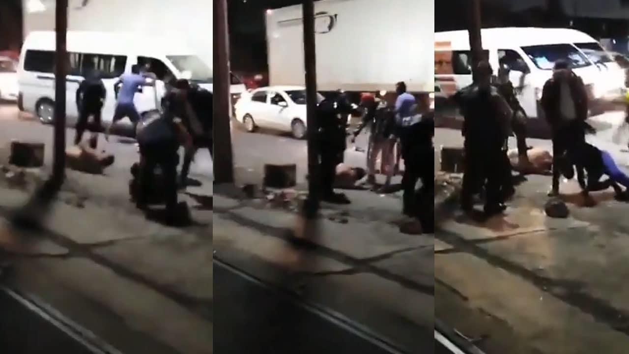Video Pasajeros golpean a asaltantes de combi