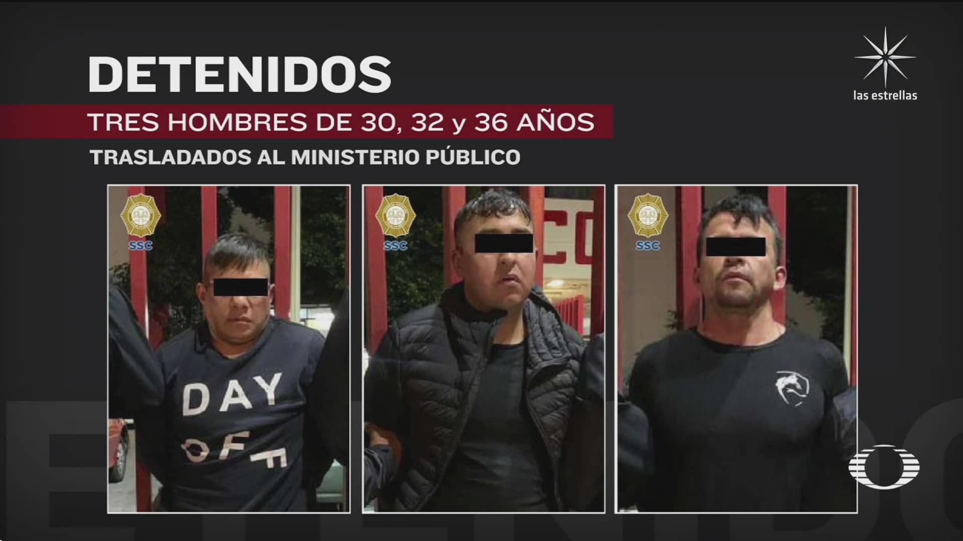policia capitalina detiene a 3 hombres relacionados con disparos en partido de futbol en azcapotzalco