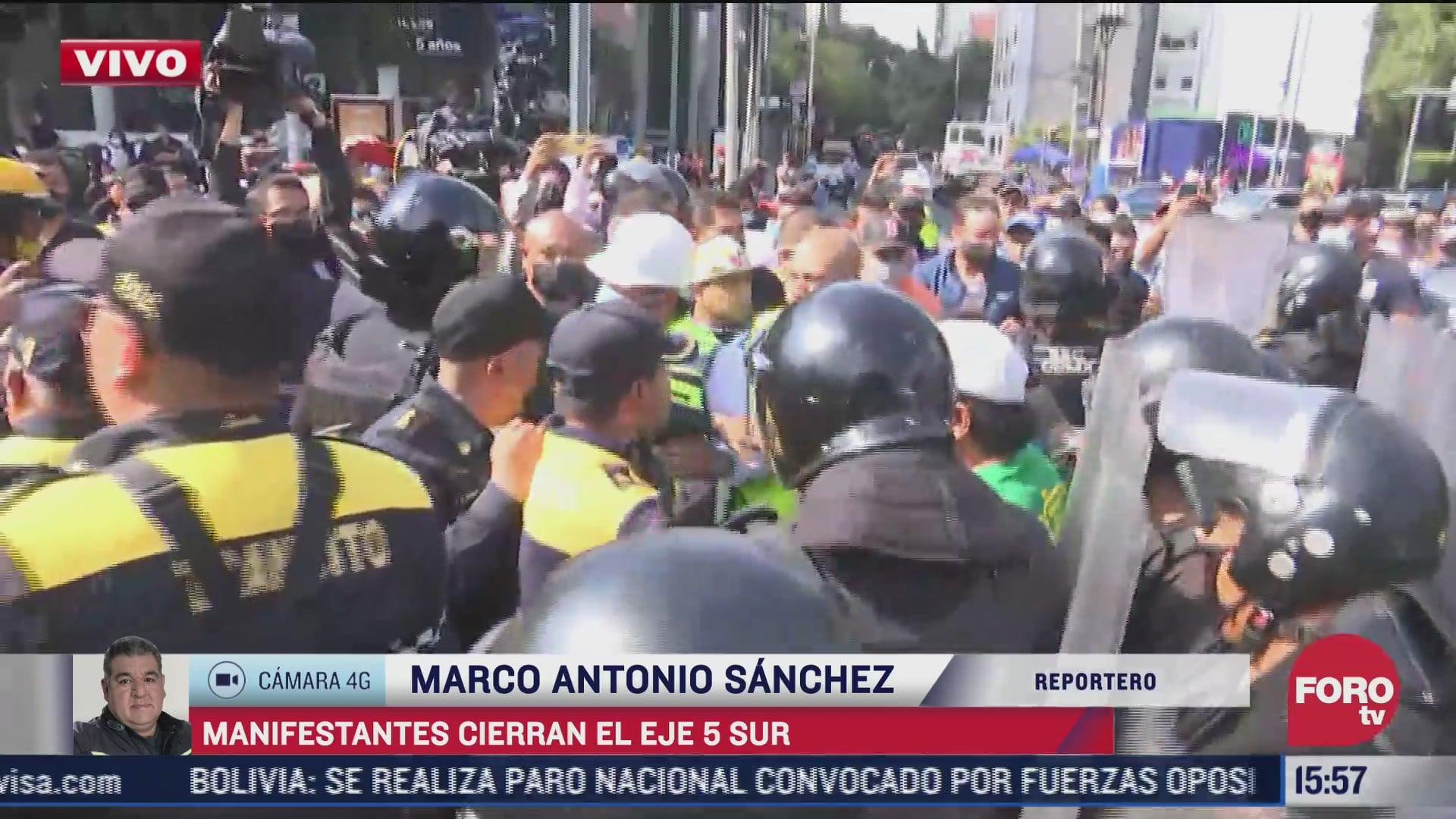 policia retira bloqueo de gaseros en eje 5 sur