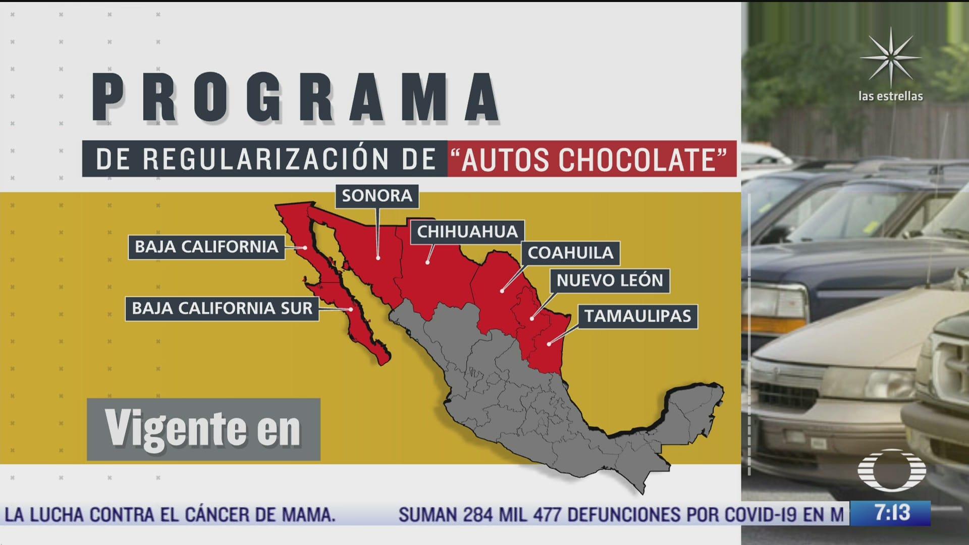 que dice el acuerdo publicado por el gobierno sobre los autos chocolate