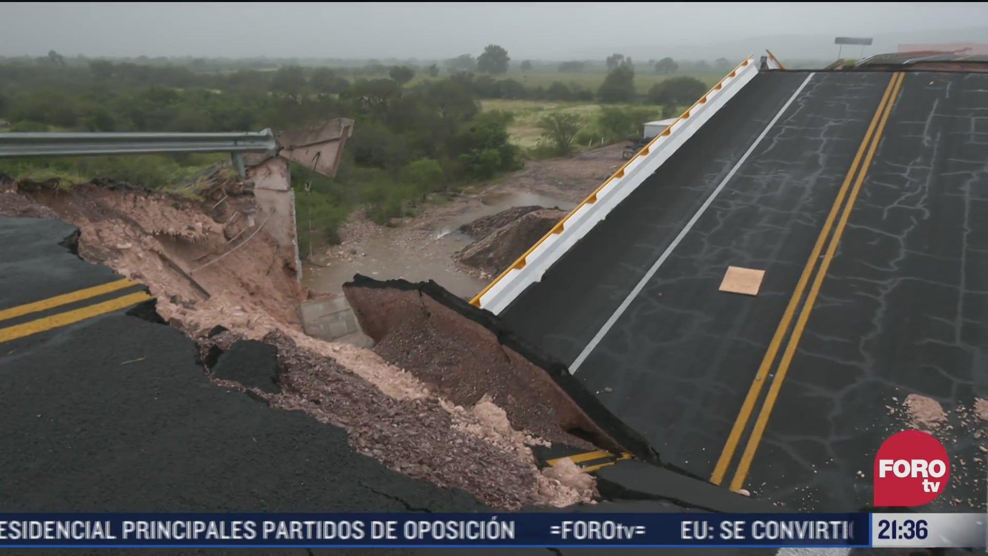 realizan peritajes tras colapso de puente en san luis potosi