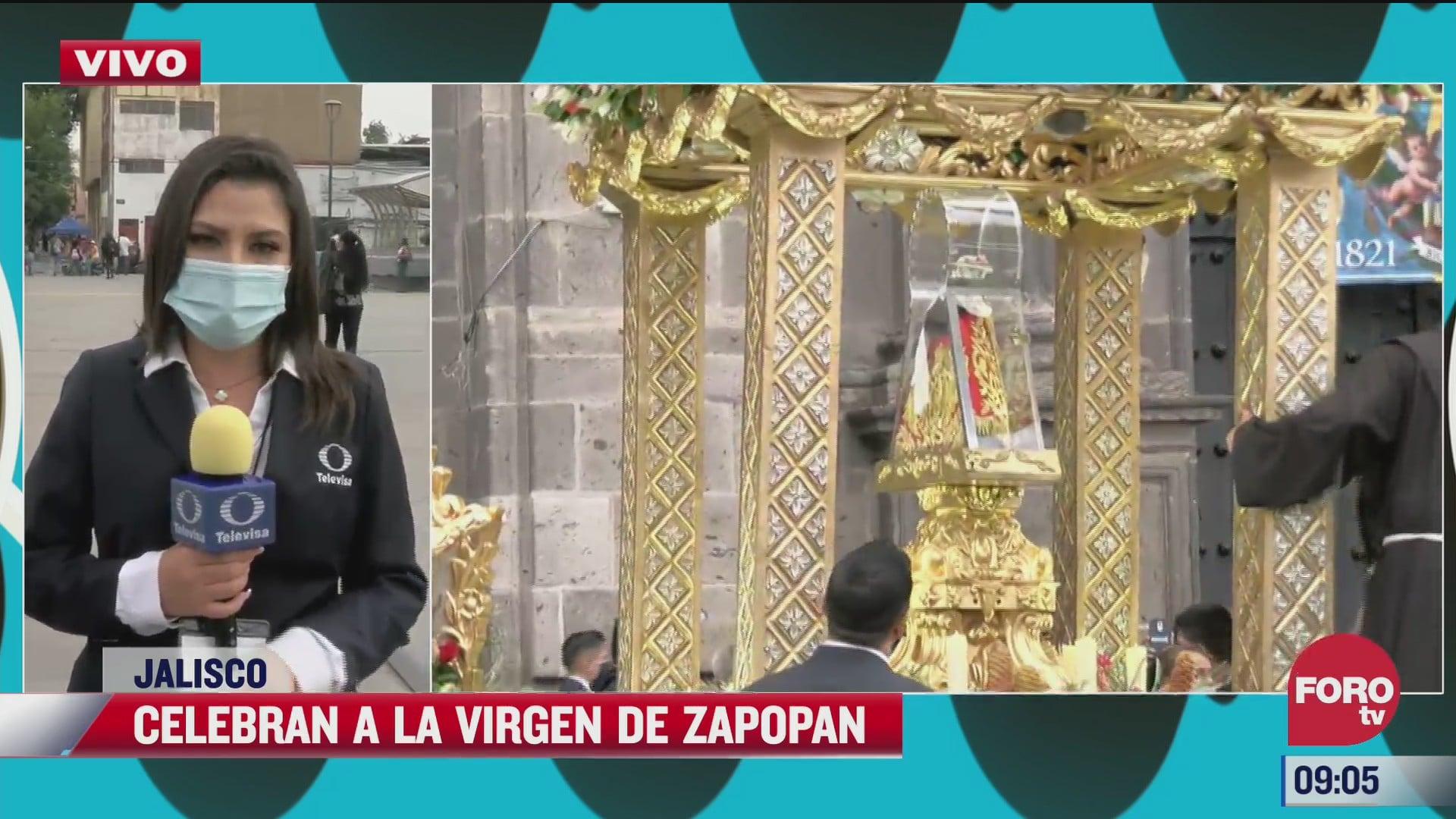 realizan romeria para celebrar a la virgen de zapopan en jalisco