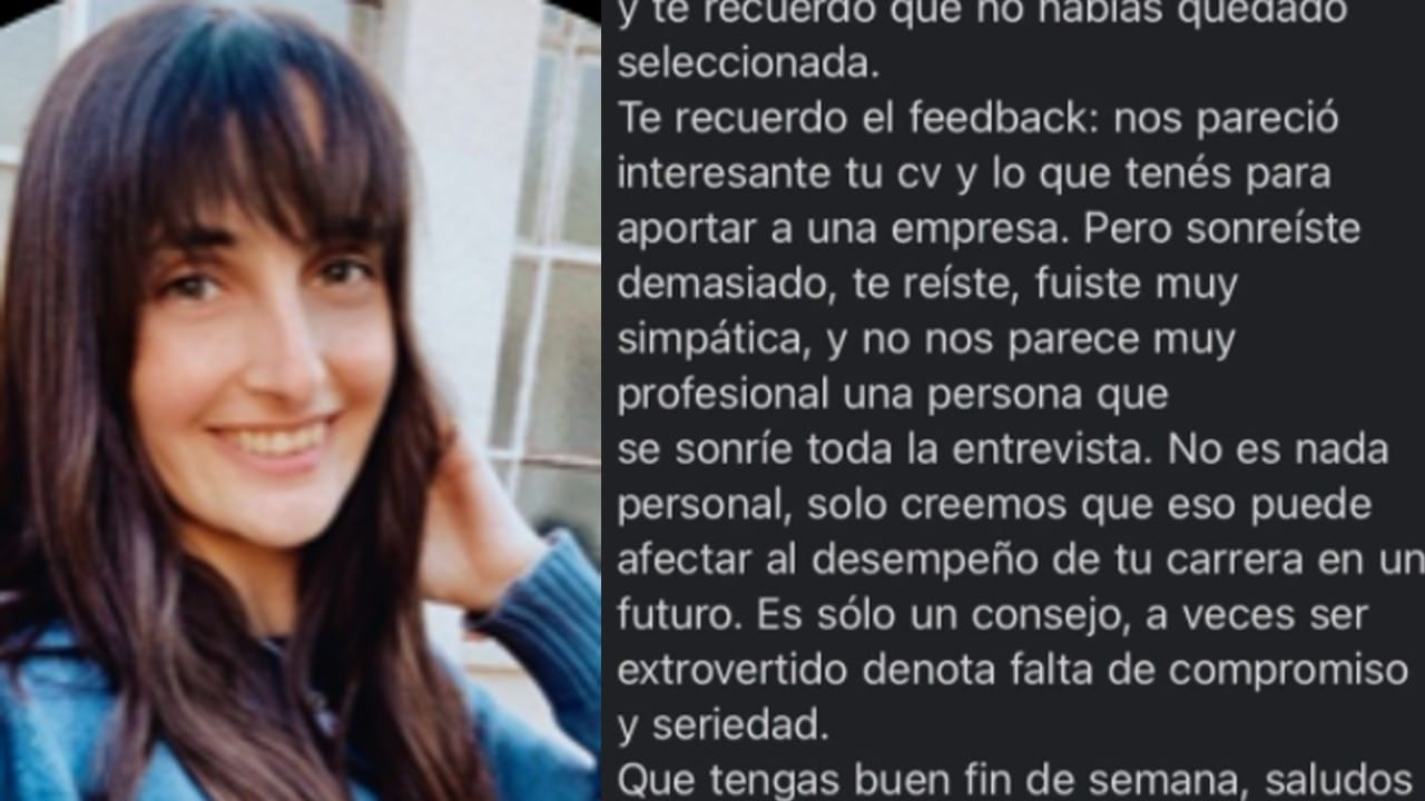 Viral Joven rechazada entrevista de trabajo