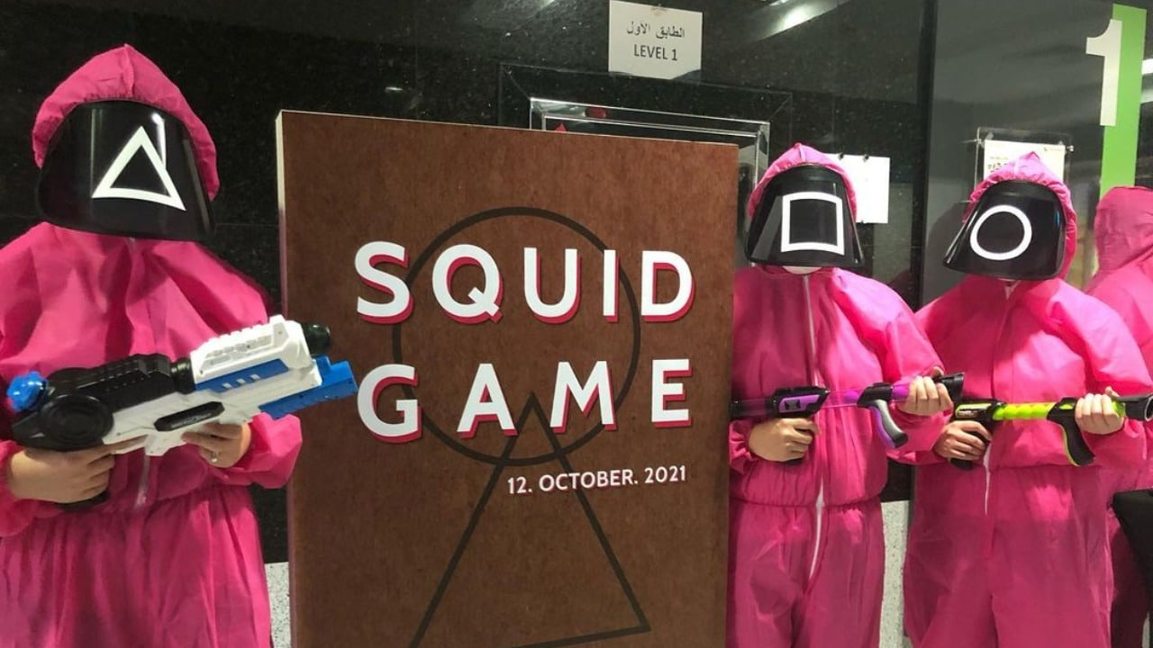 Recrean juegos de El juego del calamar en los Emiratos Árabes