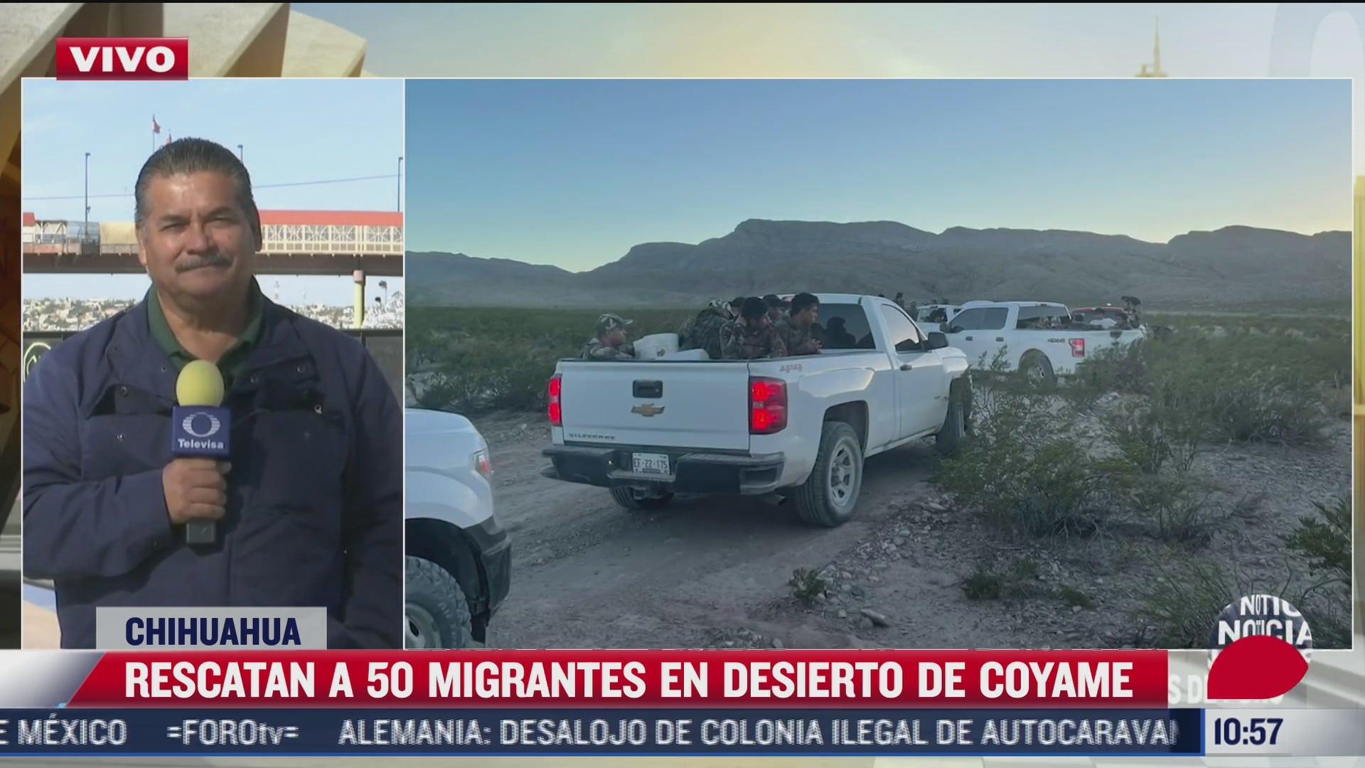 rescatan a 50 migrantes en el desierto de coyame chihuahua