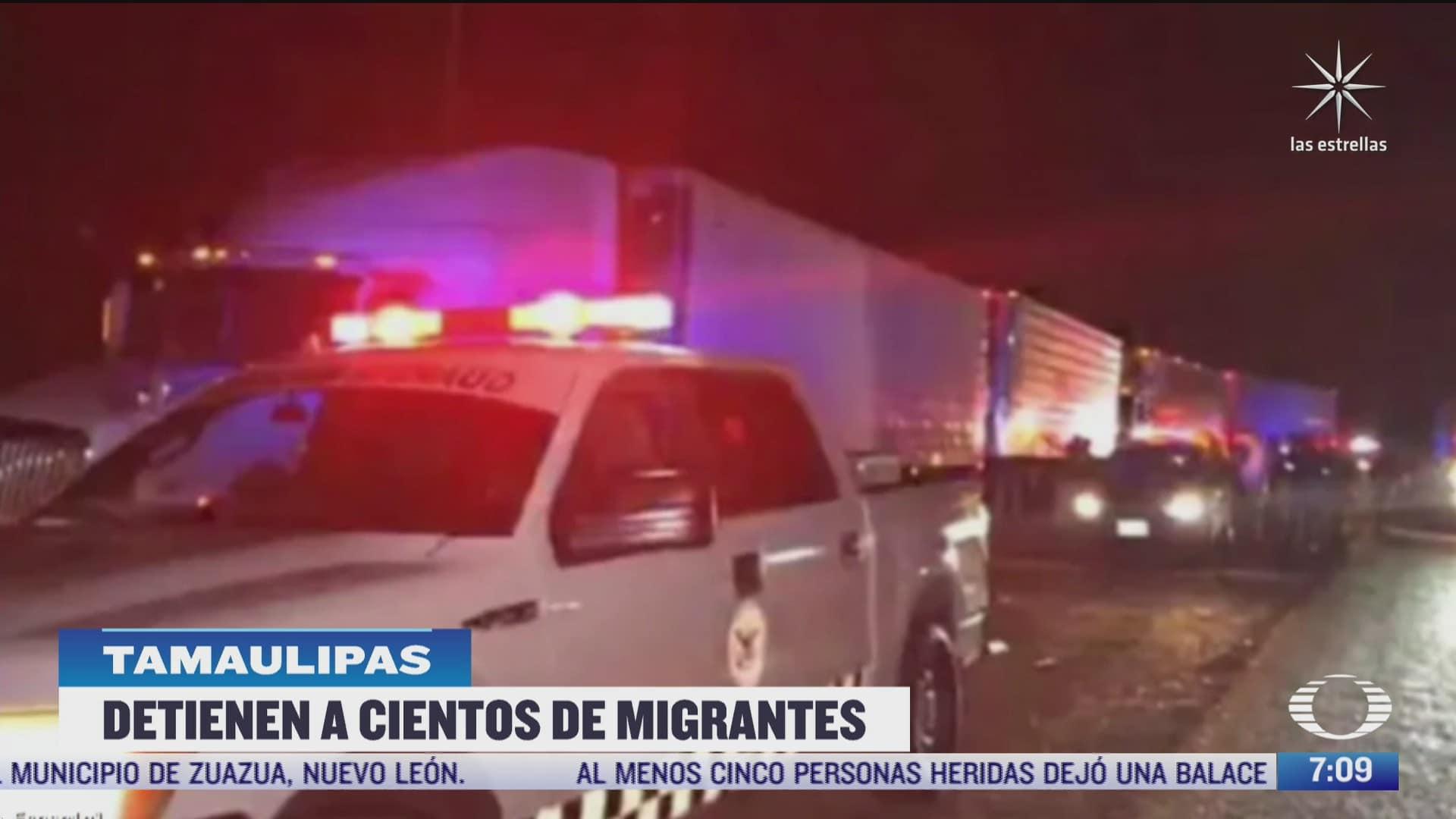 rescatan a cientos de migrantes en tamaulipas