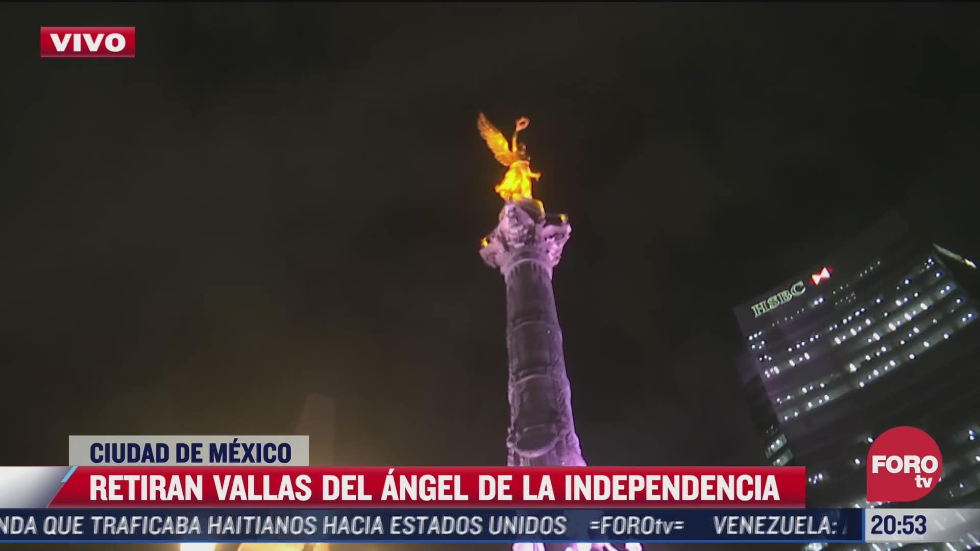 retiran vallas del angel de la independencia en cdmx