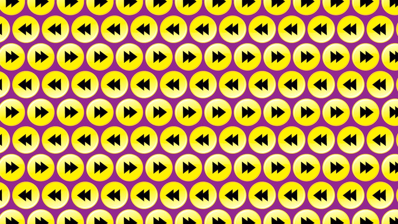 Viral reto visual botones play
