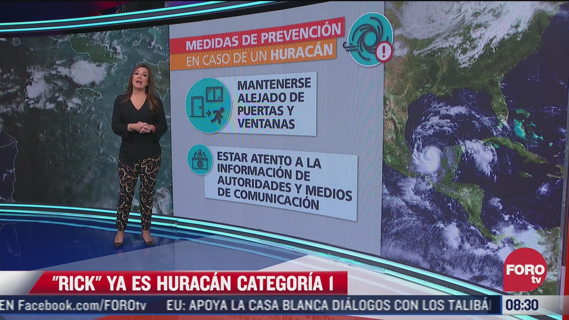 rick se convierte en huracan de categoria