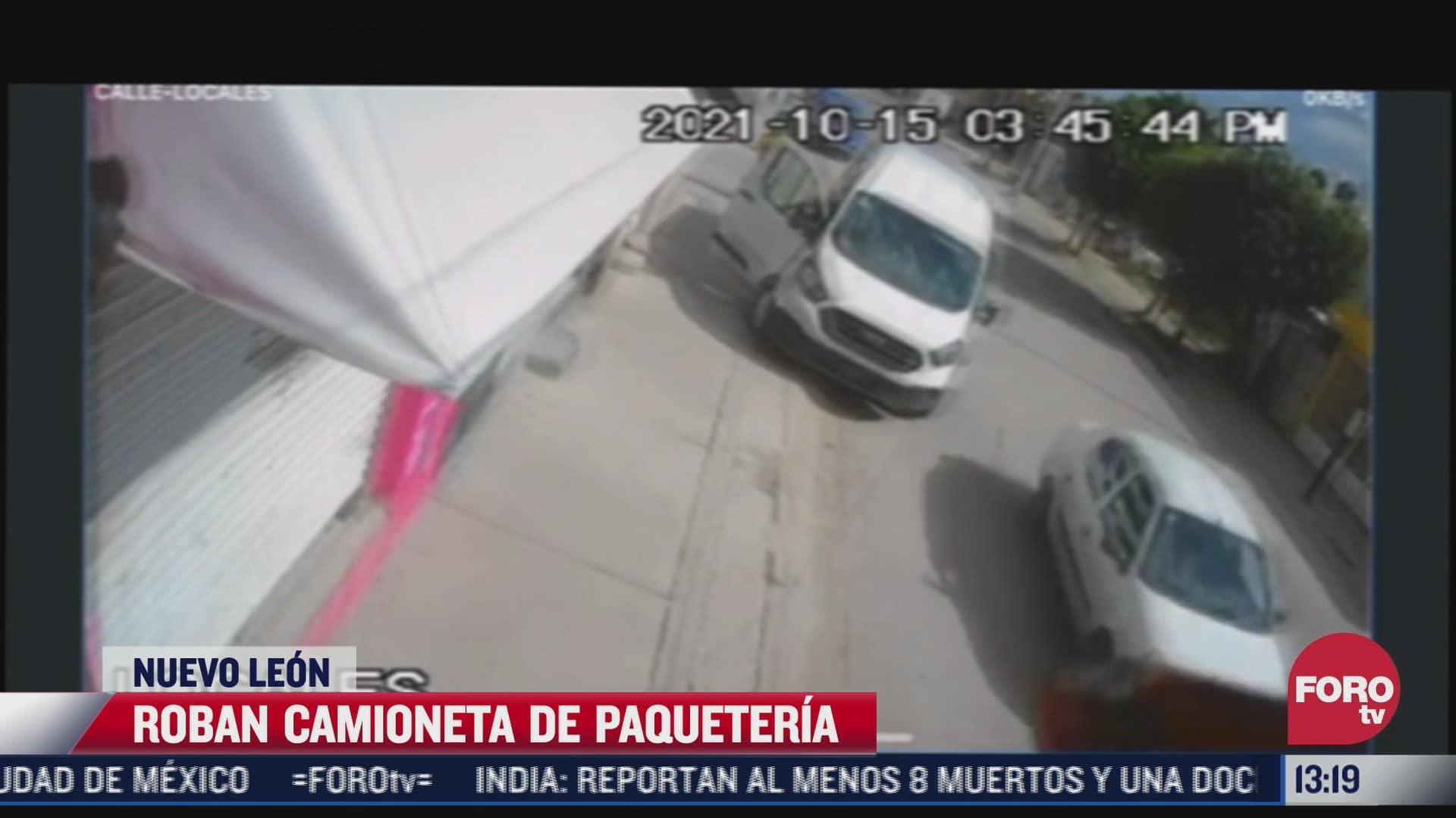 roban camioneta de paqueteria en nuevo leon
