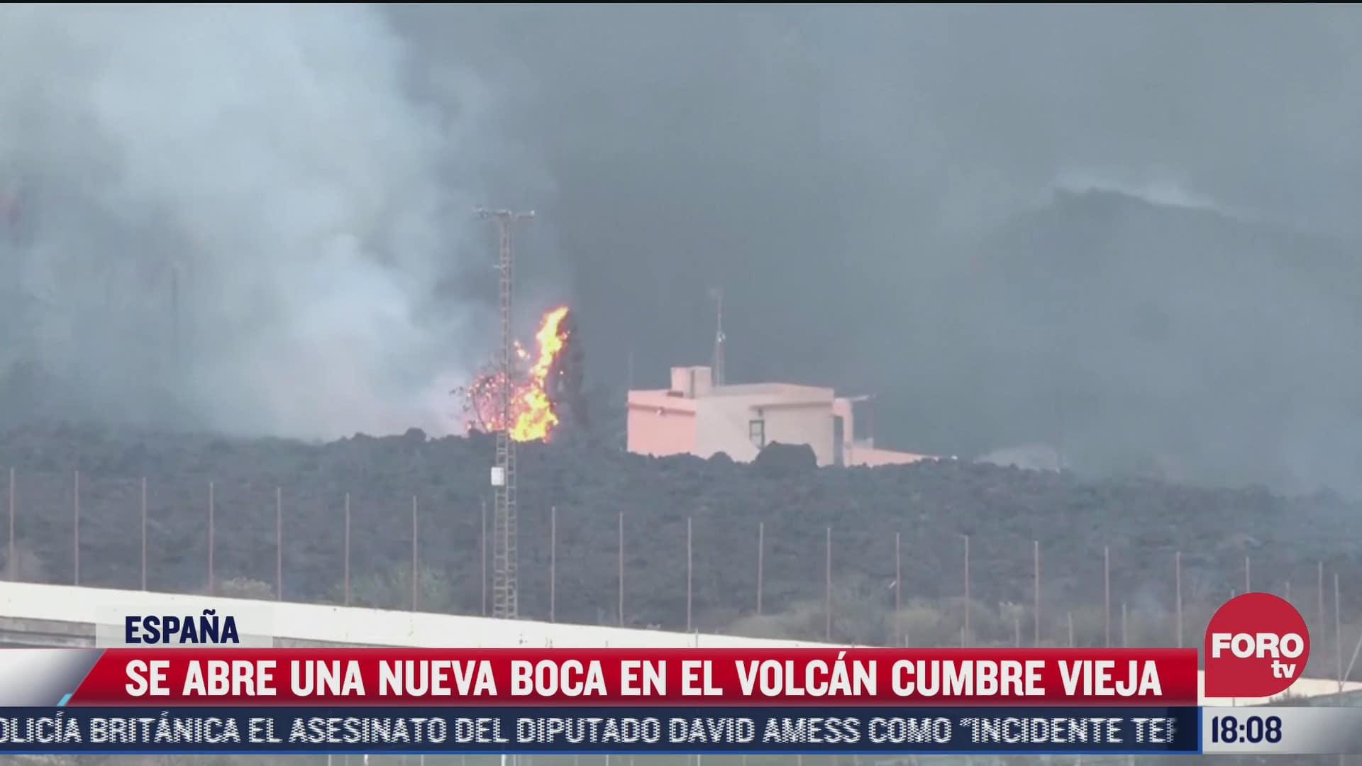se abre nueva boca en el volcan cumbre vieja en espana