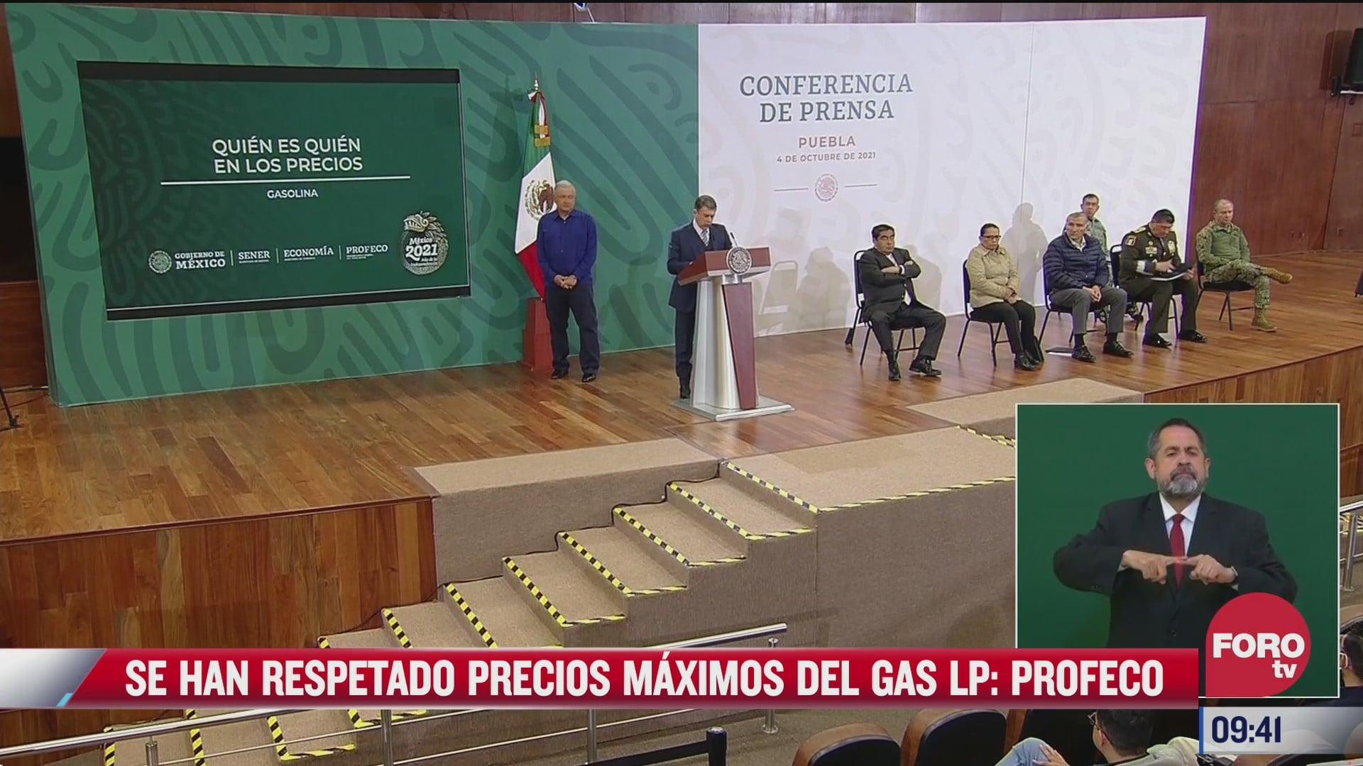 se han respetado los precios maximos del gas lp profeco