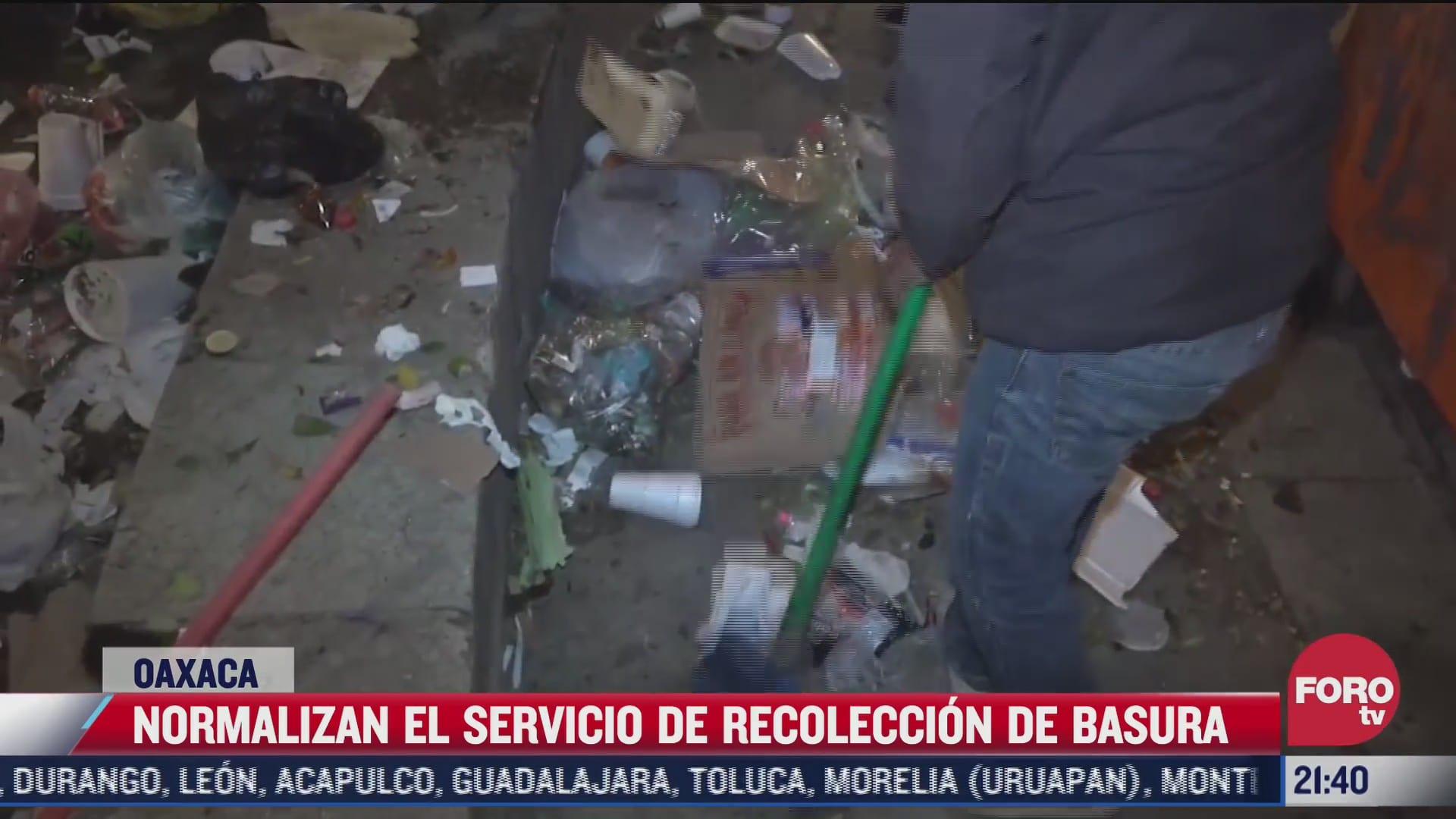 se normaliza servicio de recoleccion de basura en oaxaca