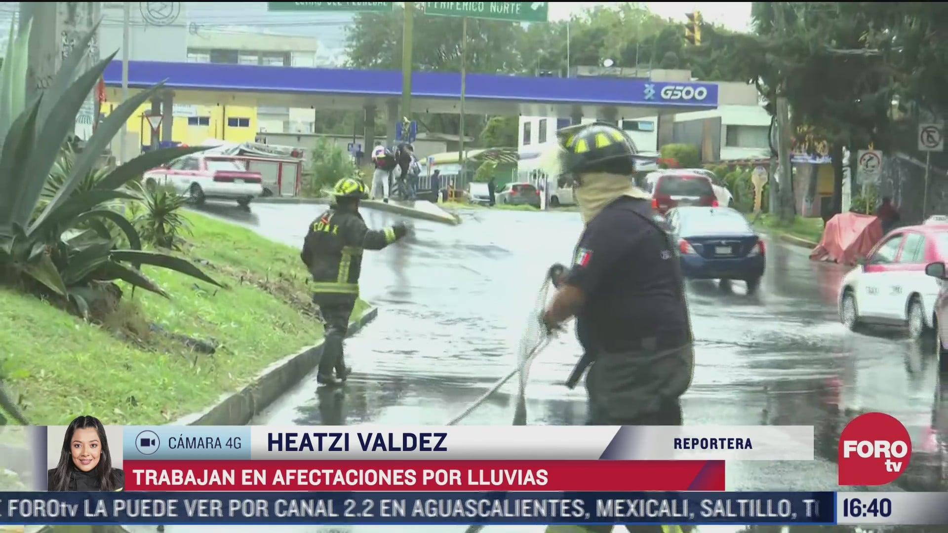 se registran afectaciones por lluvia en tlalpan