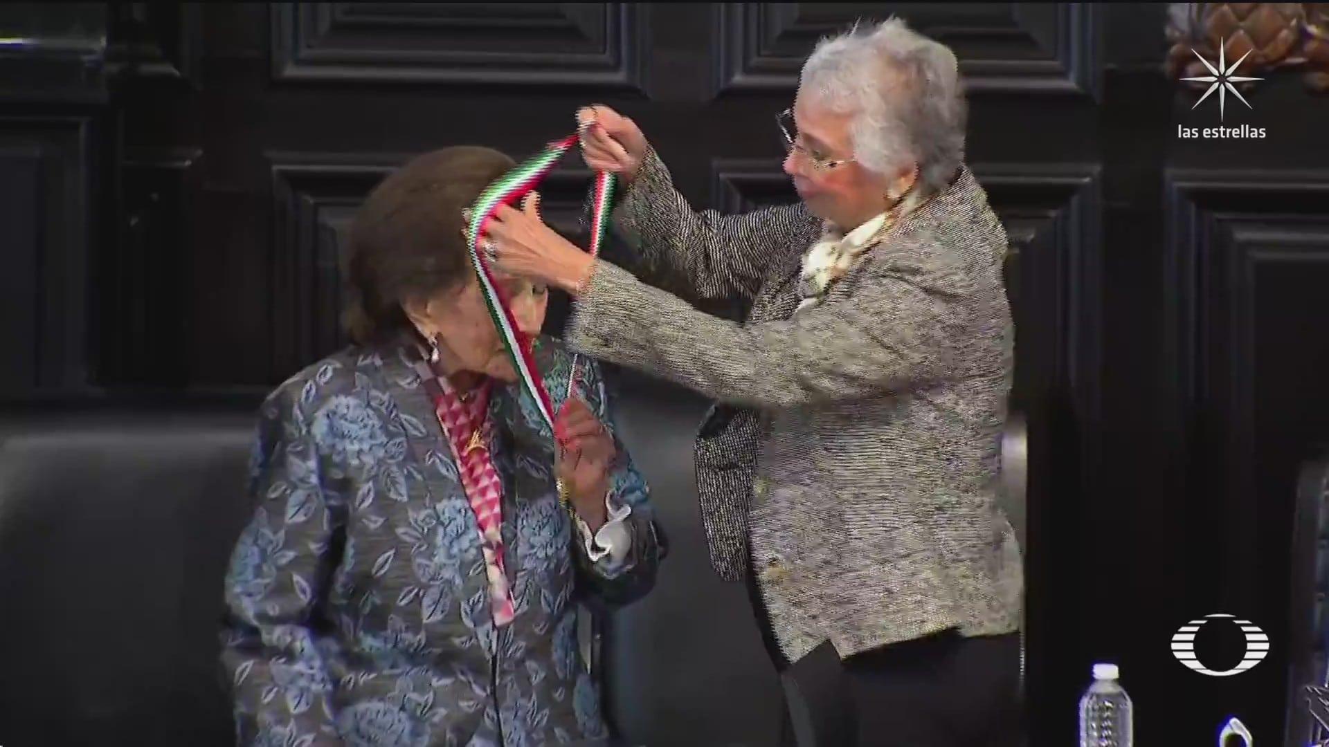 sin amlo senado entrega la medalla belisario dominguez