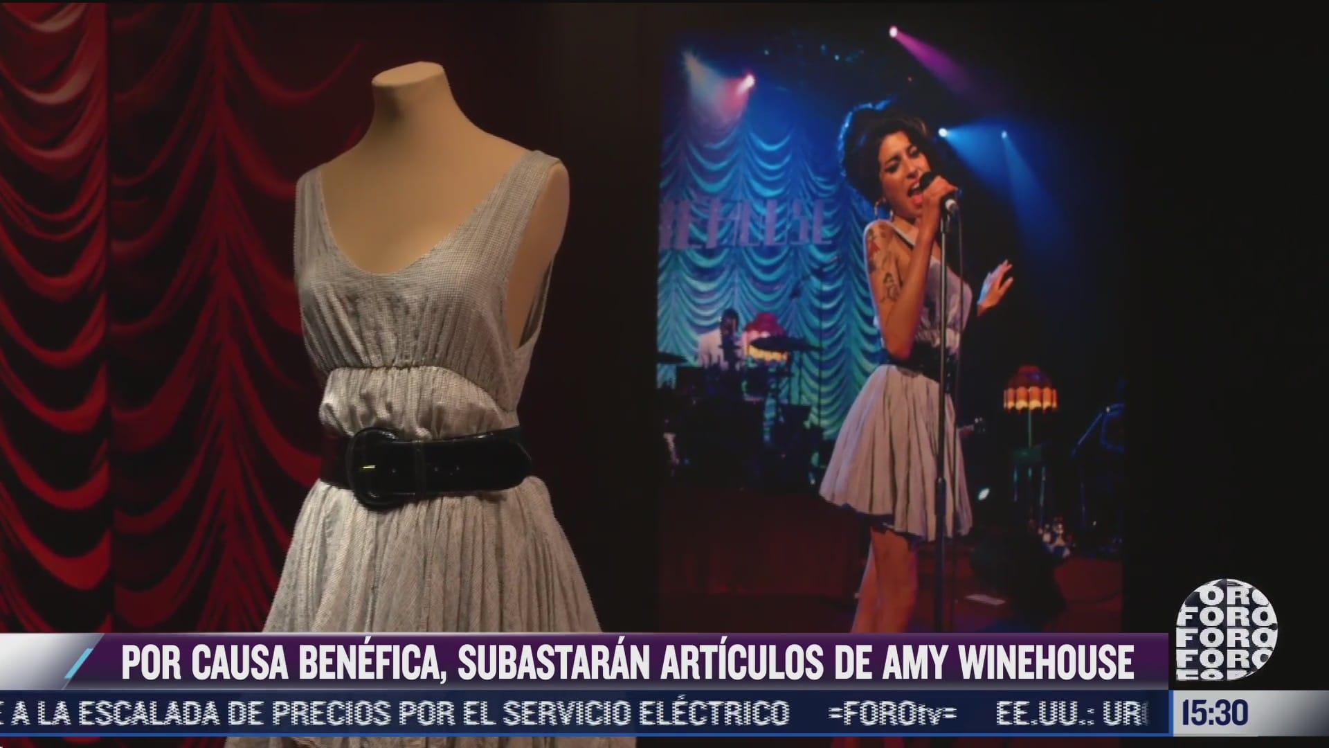 subastaran articulos de amy winehouse en nueva york