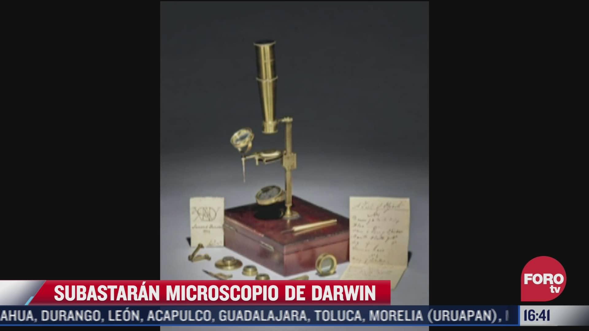 subastaran microscopio del siglo xix que charles darwin regalo a su hijo