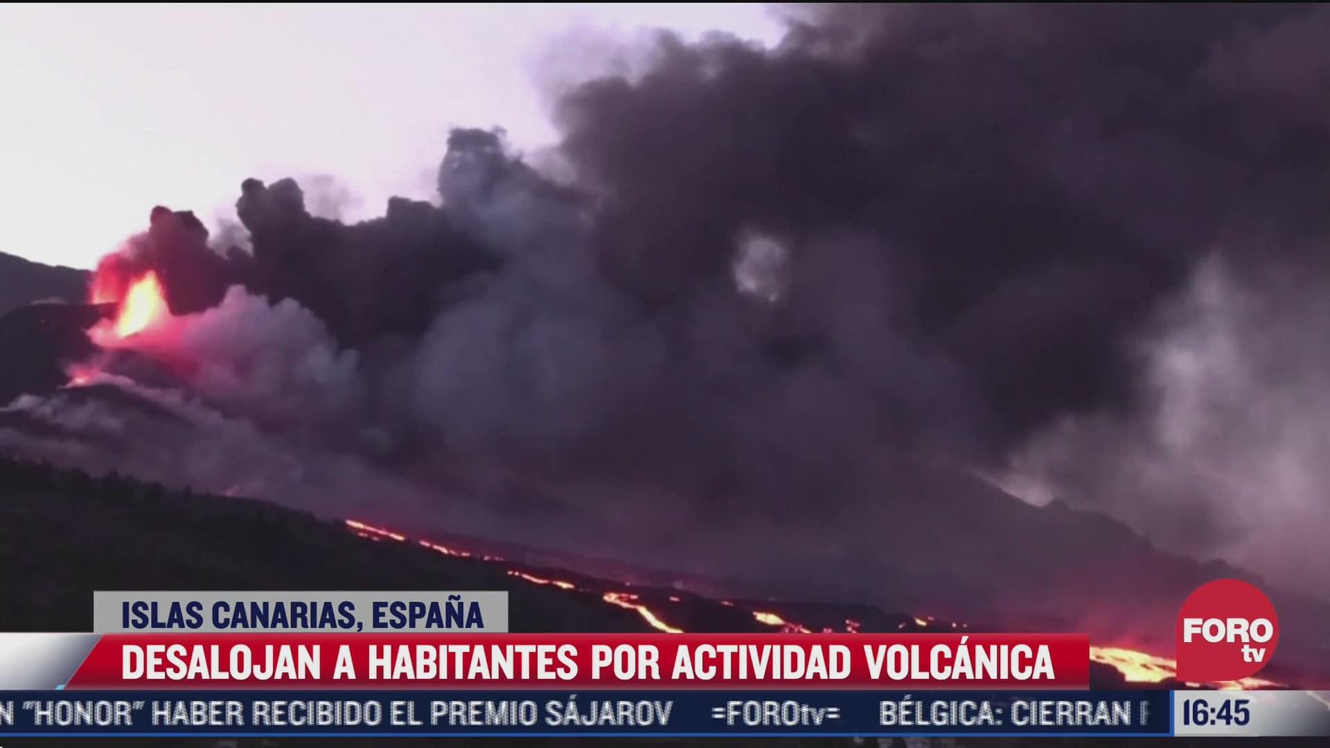suman 6 mil 600 desalojados por erupcion del volcan cumbre vieja en la palma