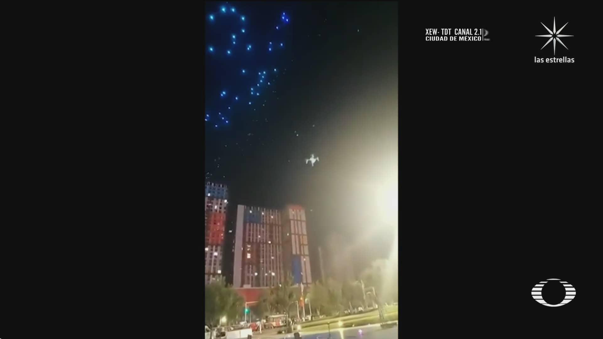 terror en china durante espectaculo de drones