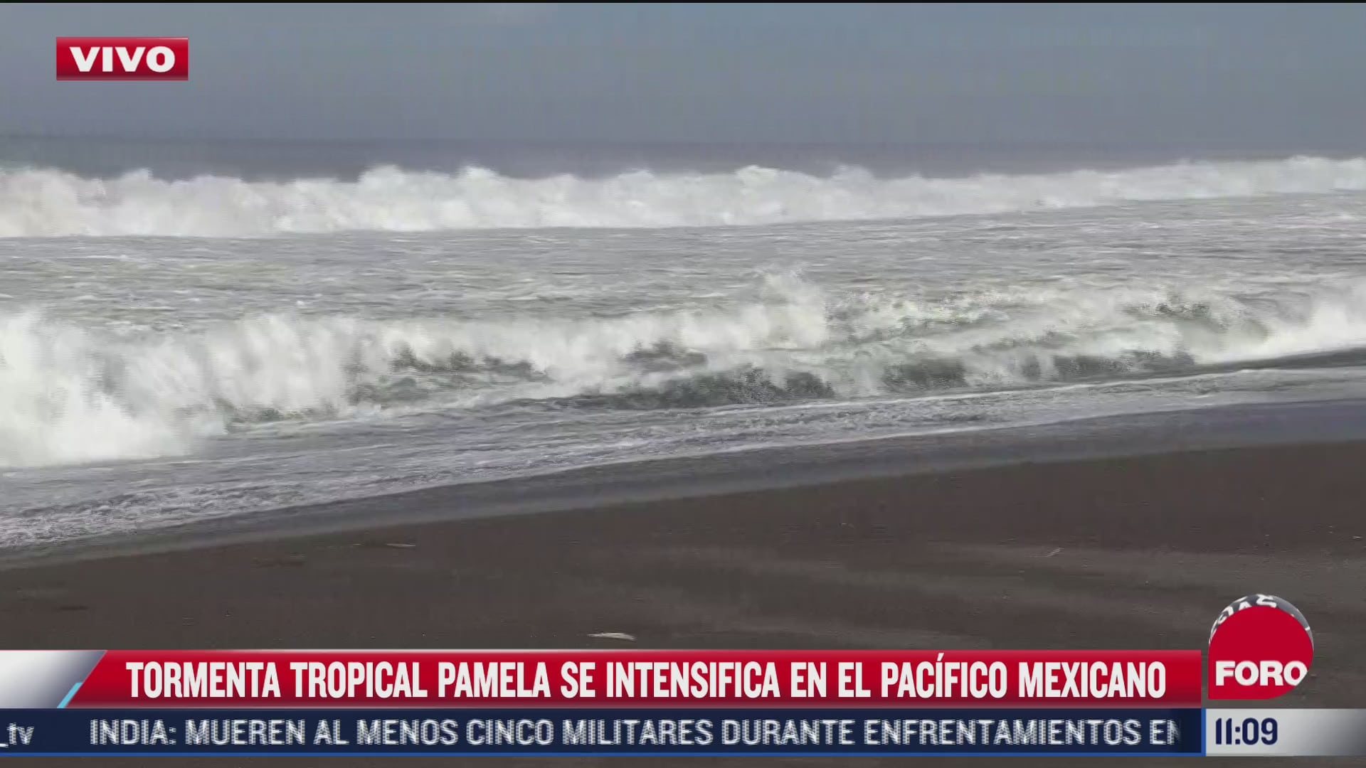 tormenta tropical pamela se intensifica en el pacifico mexicano