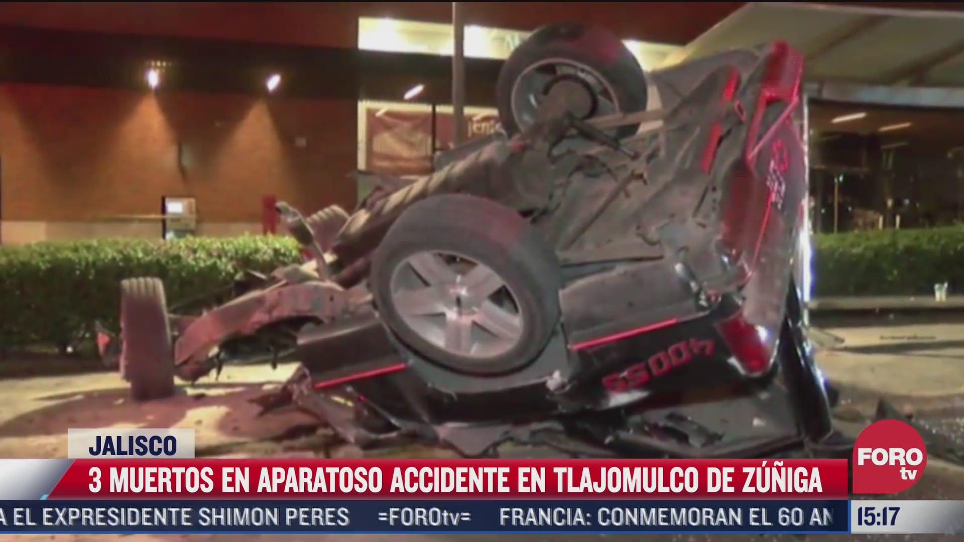 tres muertos deja un aparatoso accidente en jalisco
