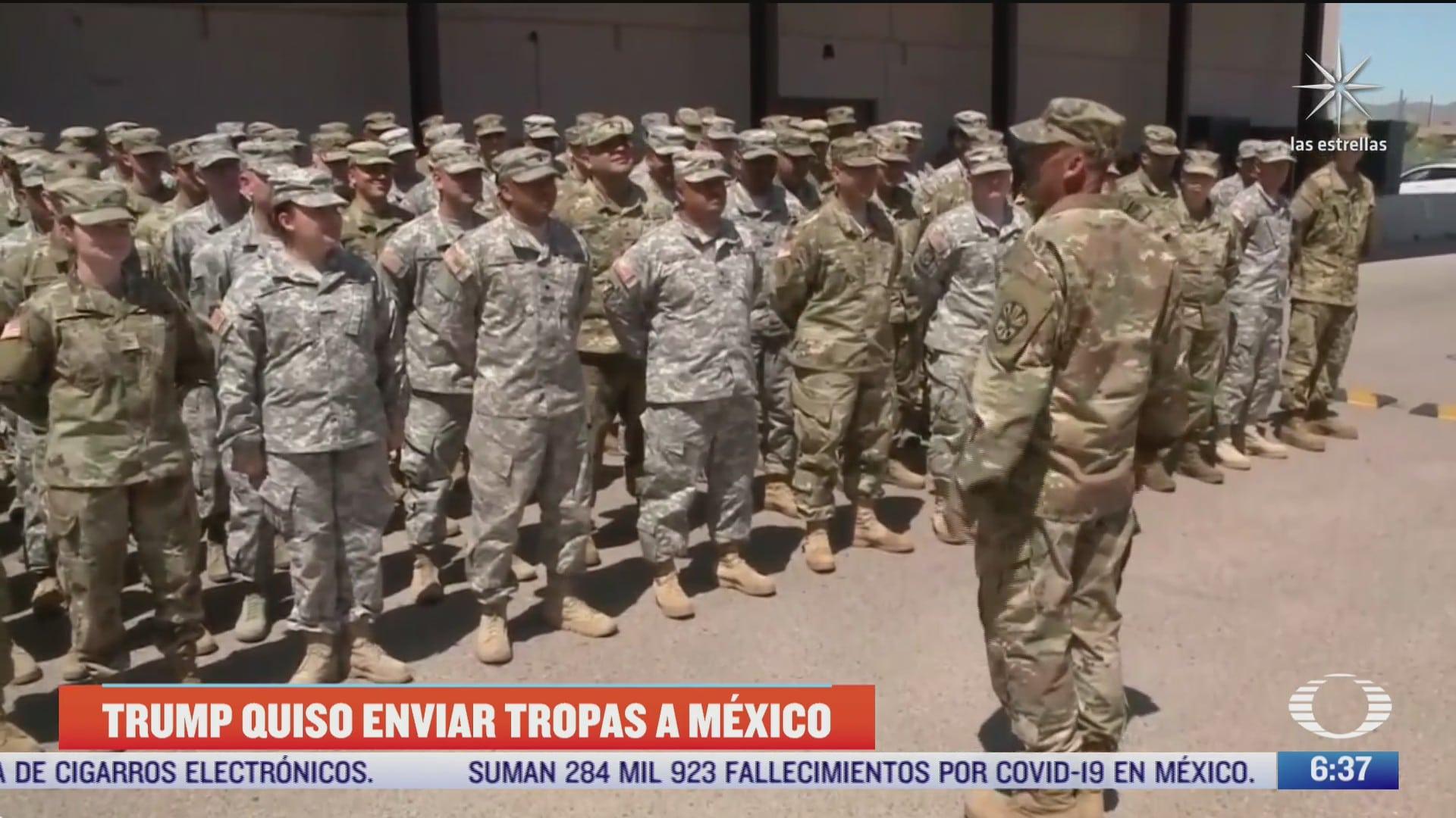 trump penso en enviar tropas a mexico para buscar a carteles de las drogas segun the new york times