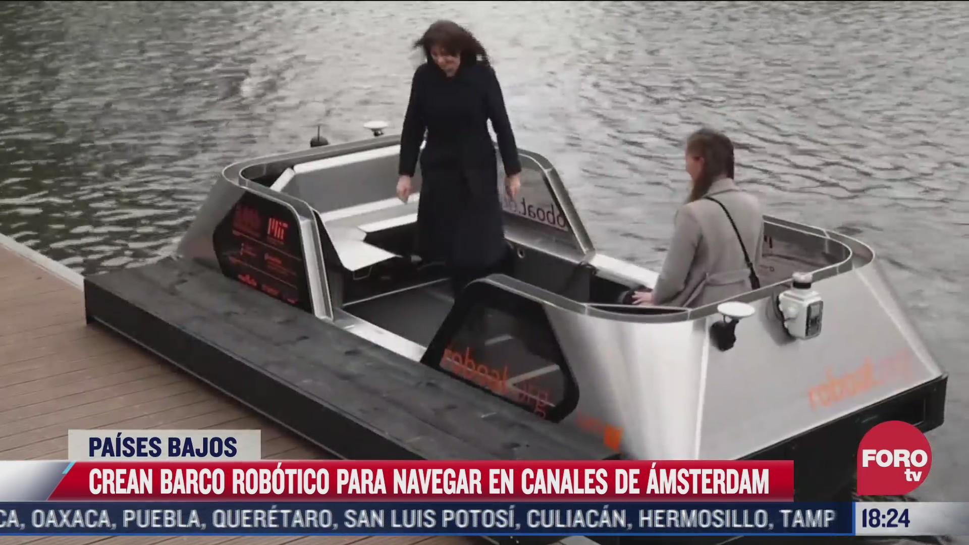 un barco autonomo navegara por los canales de amsterdam
