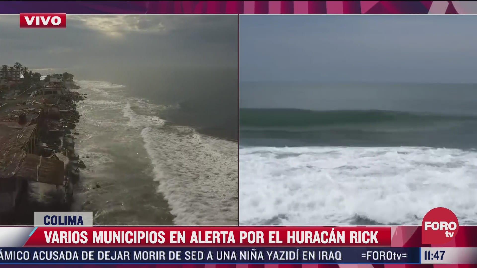 varios municipios en alerta por el huracan rick en colima