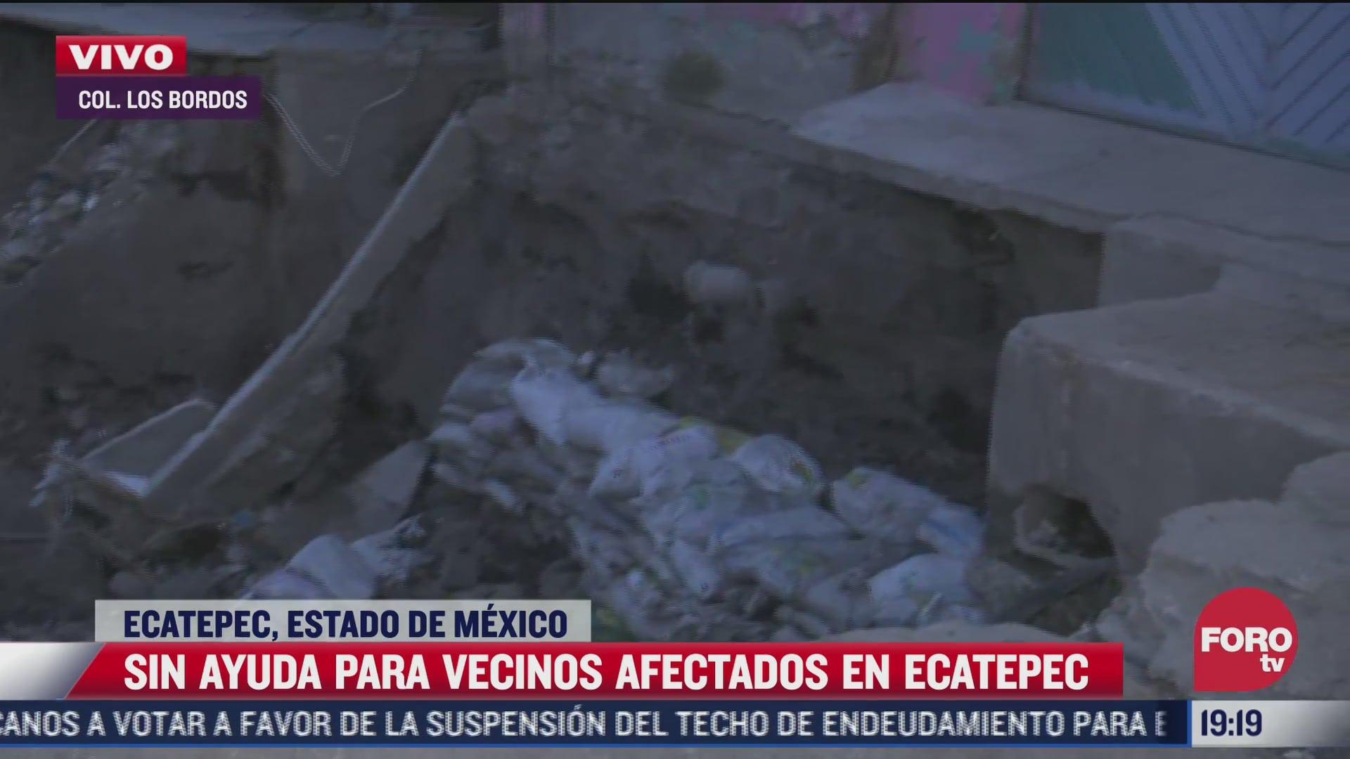 vecinos de ecatepec denuncian que no han recibido ayuda tras desbordamiento de rio