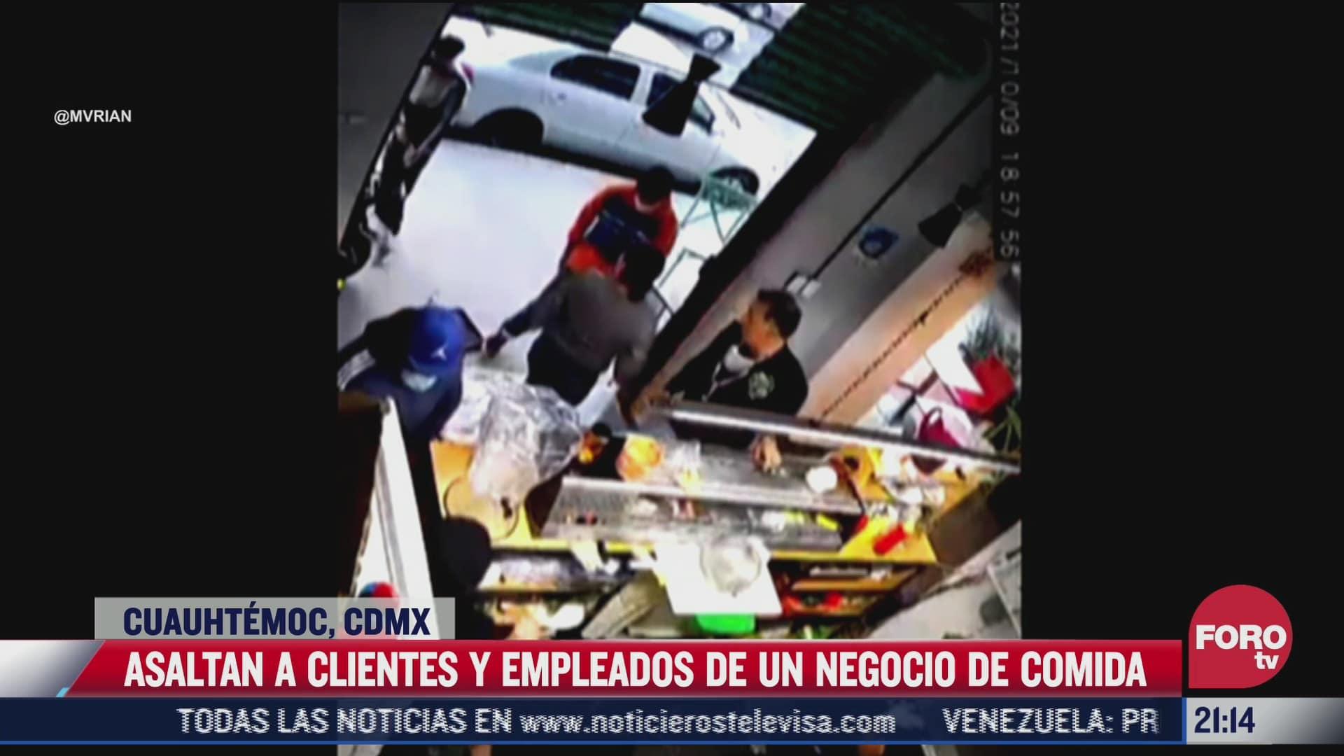 video asaltan negocio de comida en cuauhtemoc cdmx
