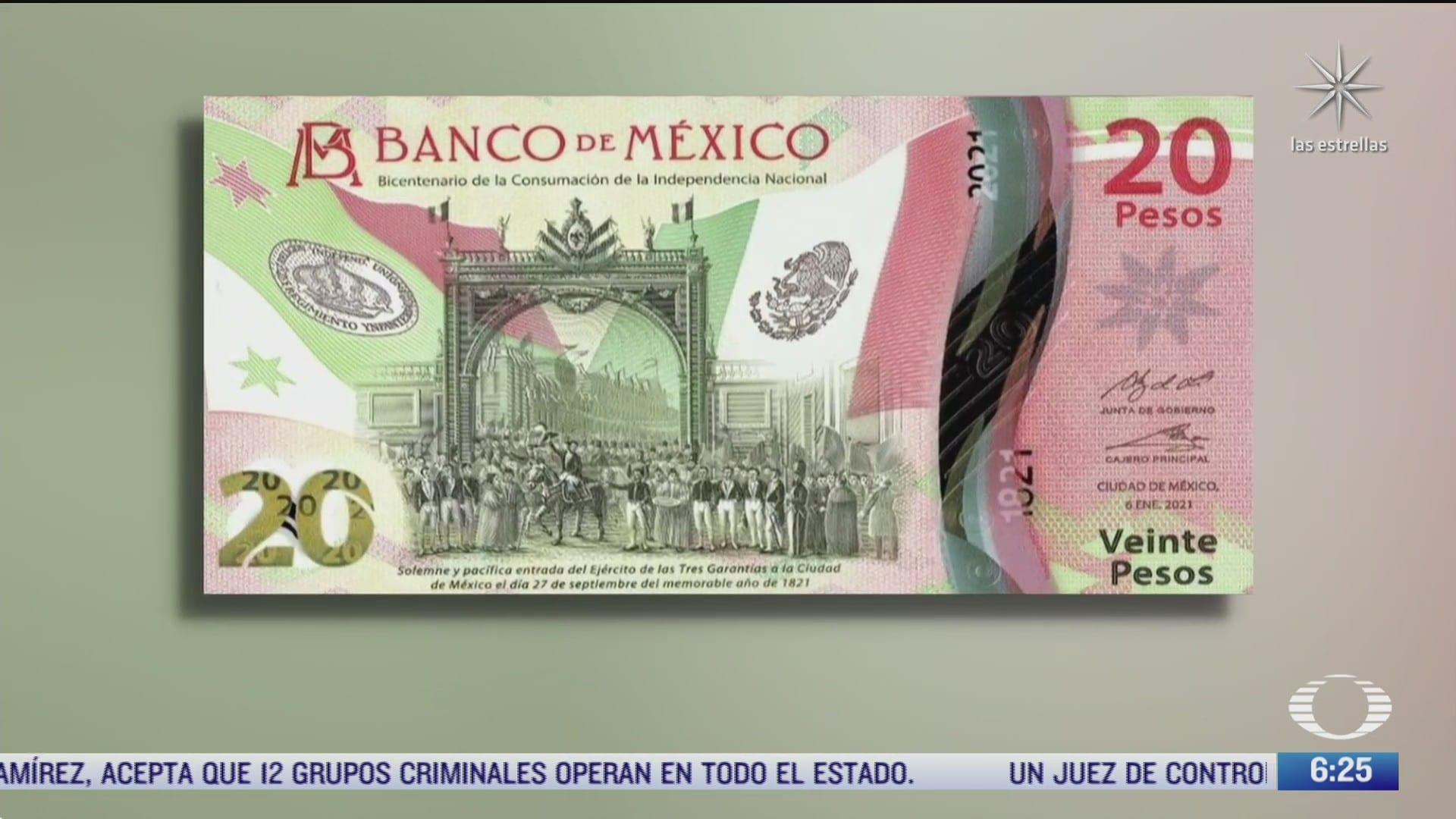 video asi es el nuevo billete de 20 pesos conmemorativo del bicentenario de la independencia