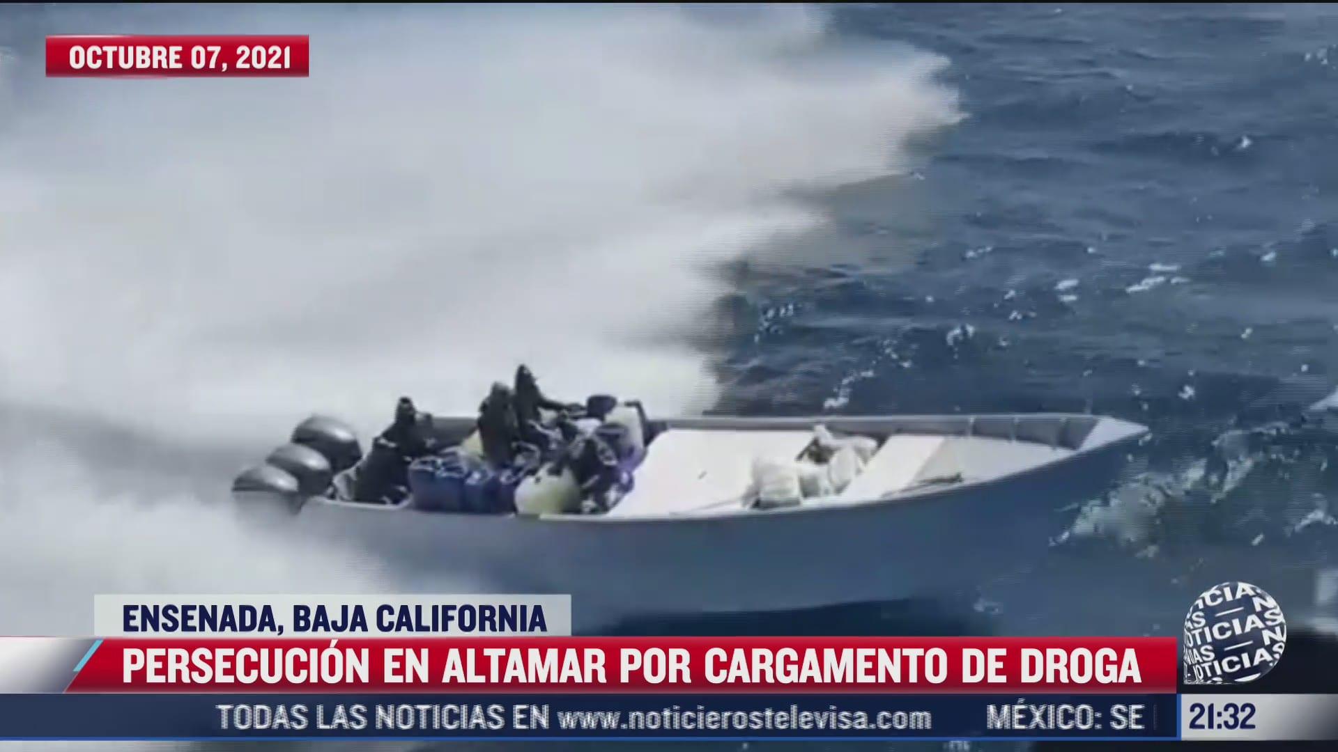 video autoridades realizan persecucion en altamar por cargamento de droga