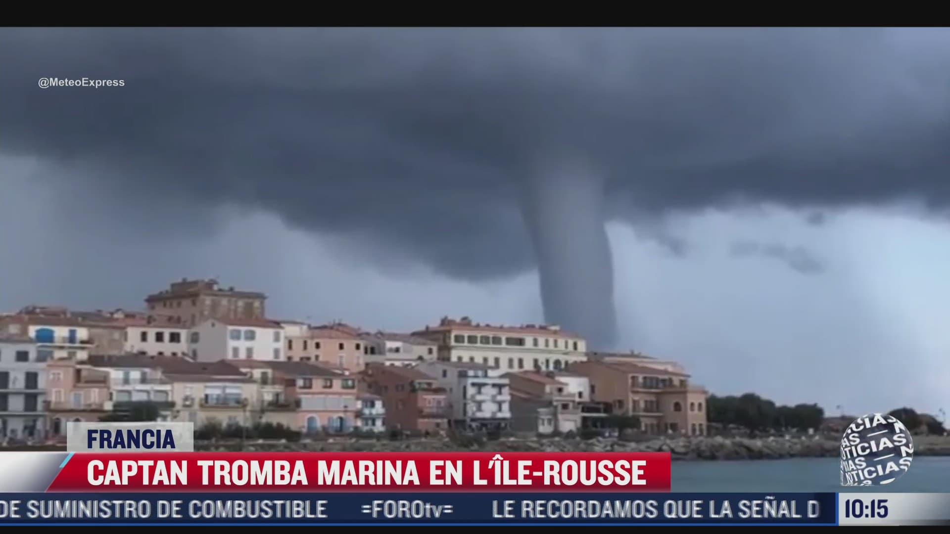 video captan tromba marina en francia