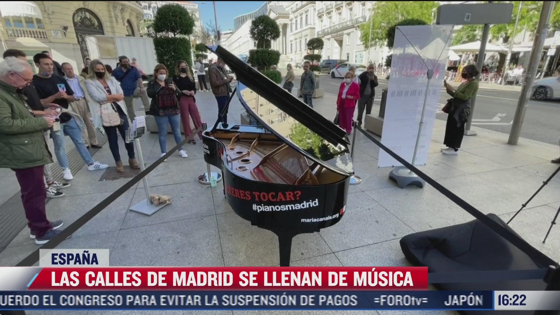 video diez pianos de cola llenaron de musica las calles de madrid espana