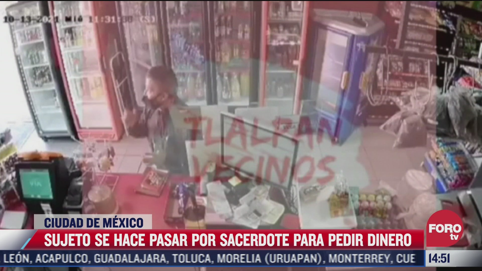 video hombre se hace pasar por sacerdote y pide dinero en la alcaldia tlalpan