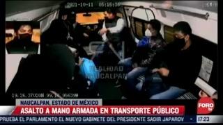 video ladron despoja de sus celulares a pasajeros de combi en naucalpan