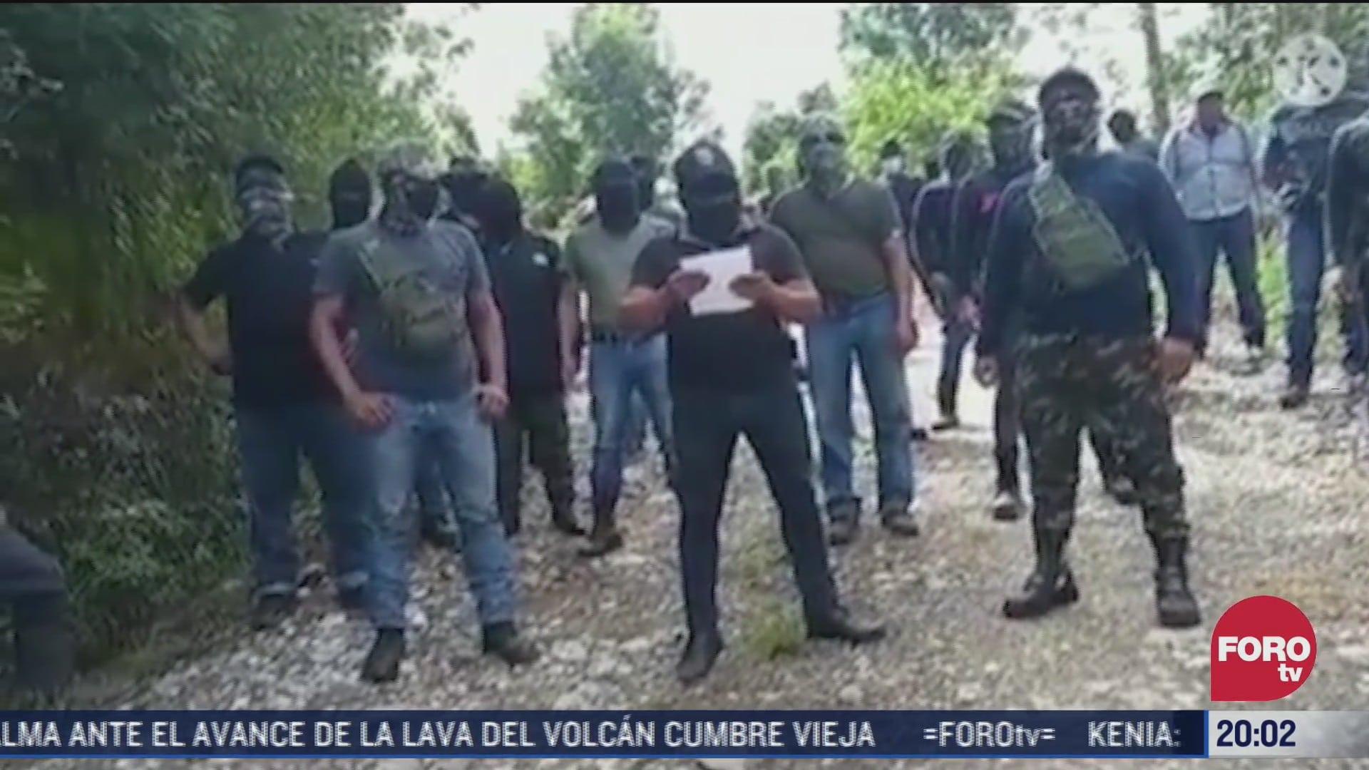 video surge nuevo grupo de autodefensas en chiapas