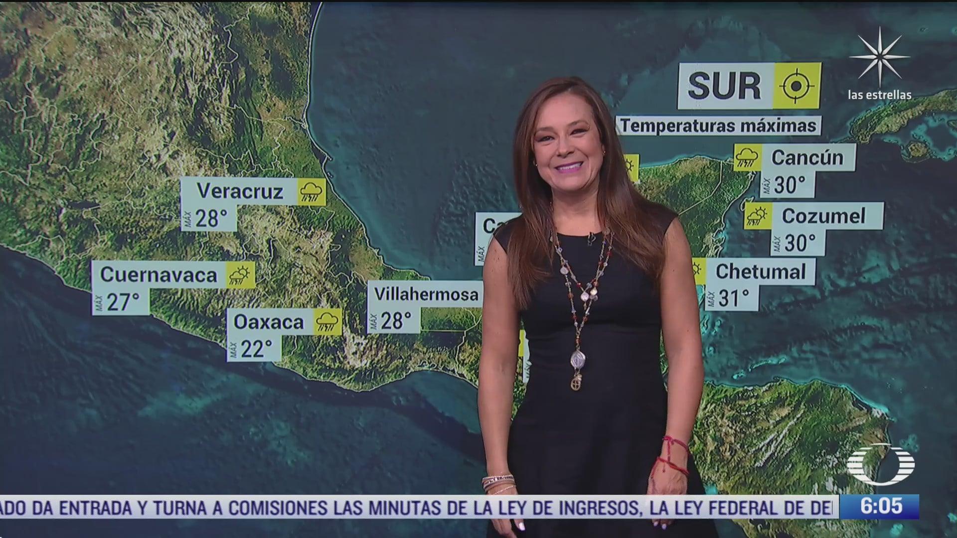 zona de baja presion provocara lluvias fuertes en centro sur y occidente de mexico